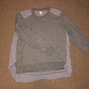Jcrew mixed media sweater